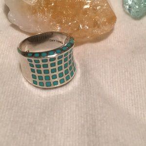 Genuine Turquoise stones ring